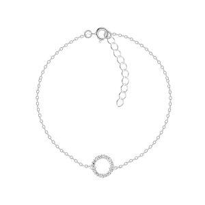 Wholesale Silver Twisted Circle Bracelet