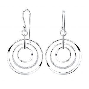 Wholesale Silver Circles Earrings