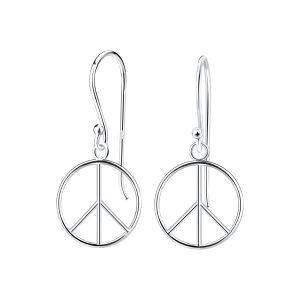 Wholesale Silver Peace Sign Earrings