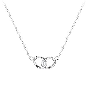 Wholesale Silver Double Circle Necklace