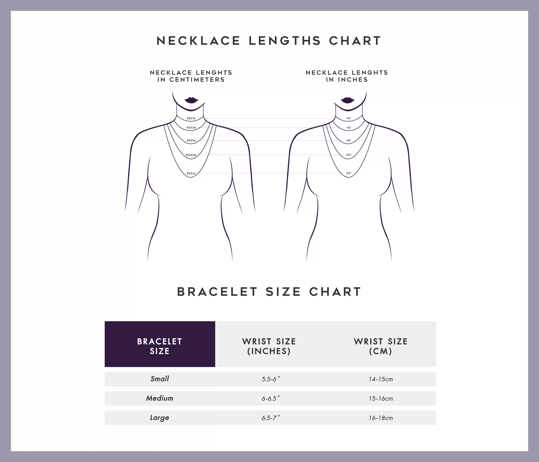 necklaces and bracelet size charts
