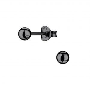 Wholesale 4mm Silver Ball Stud Earrings