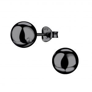 Wholesale 8mm Silver Ball Stud Earrings