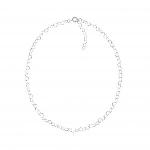 Wholesale 40cm Silver Heart Choker Necklace With Extension