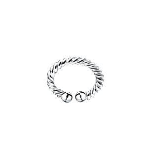 Wholesale Silver Twisted Ear Cuff