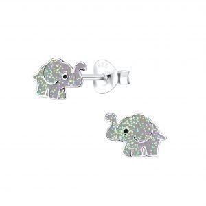 Wholesale Siver Elephant Stud Earrings