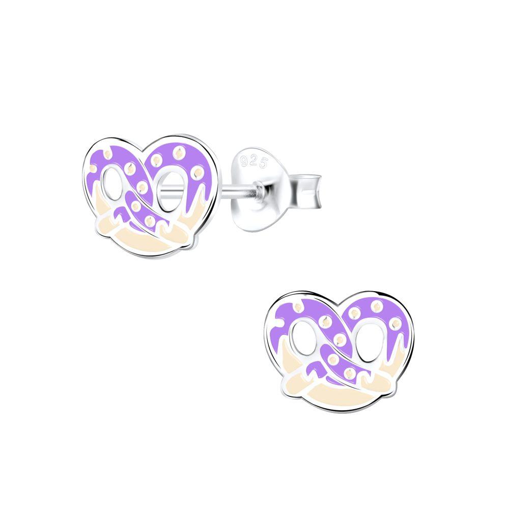 Wholesale Silver Pretzel Stud Earrings