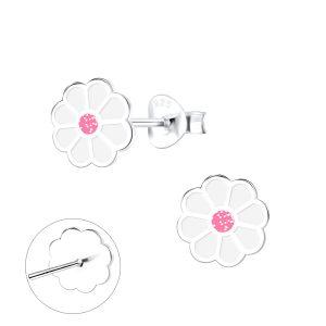 Wholesale Silver Daisy Stud Earrings