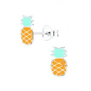 Wholesale Silver Pineapple Stud Earrings