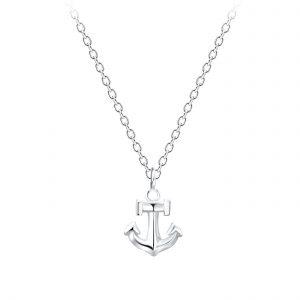 Wholesale Silver Anchor Necklace