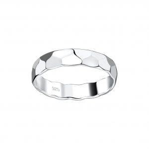 Wholesale Silver Pattern Band Ring