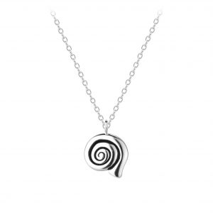 Wholesale Silver Spiral Shell Necklace