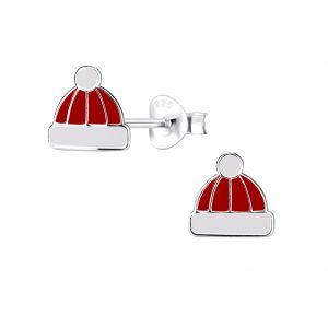 Wholesale Silver Hat Stud Earrings