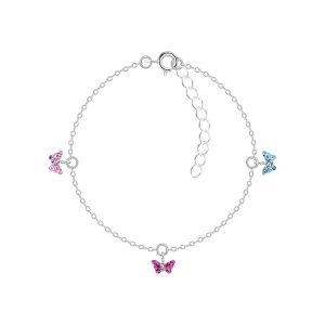 Wholesale Silver Butterfly Crystal Bracelet