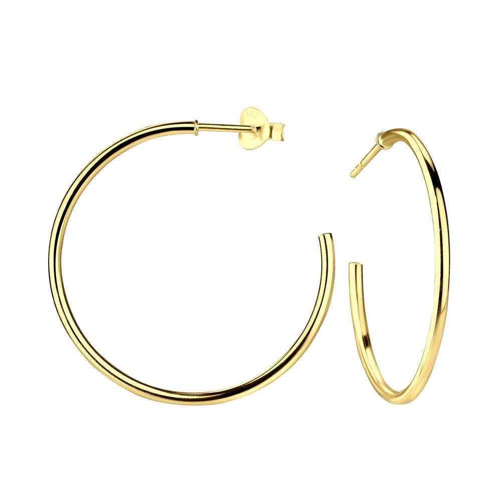 Wholesale Silver Half Hoop Stud Earrings
