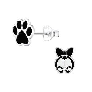 Wholesale Silver Dog Lovers Stud Earrings