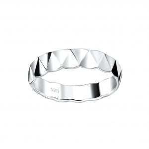 Wholesale Silver Patterned Ring