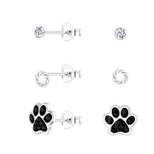Wholesale Silver Mixed Stud Earrings Set