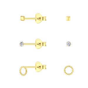 Wholesale Silver Gold Mixed Stud Earrings Set