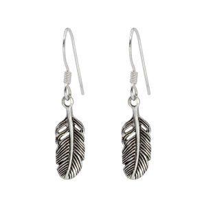 Wholesale Silver Feather Earrings
