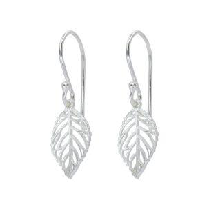 Wholesale Silver Leaf Earrings