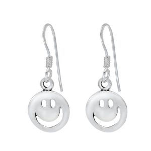 Wholesale Silver Smiley Face Earrings