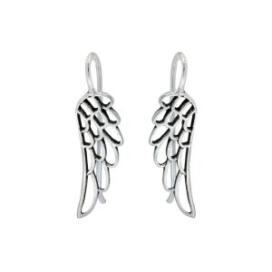 Wholesale Silver Thread Through Wing Earrings