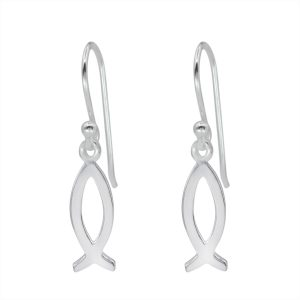 Wholesale Silver Ichthys Earrings