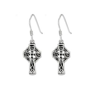 Wholesale Silver Lona Cross Earrings