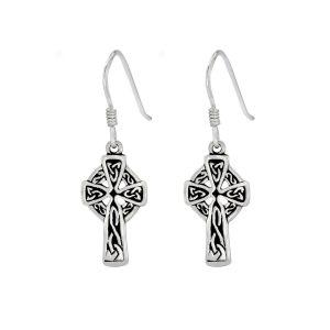 Wholesale Silver Lona Cross Earrings