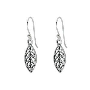 Wholesale Silver Filigree Leaf Earrings