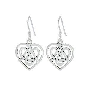 Wholesale Silver Celtic Heart Earrings