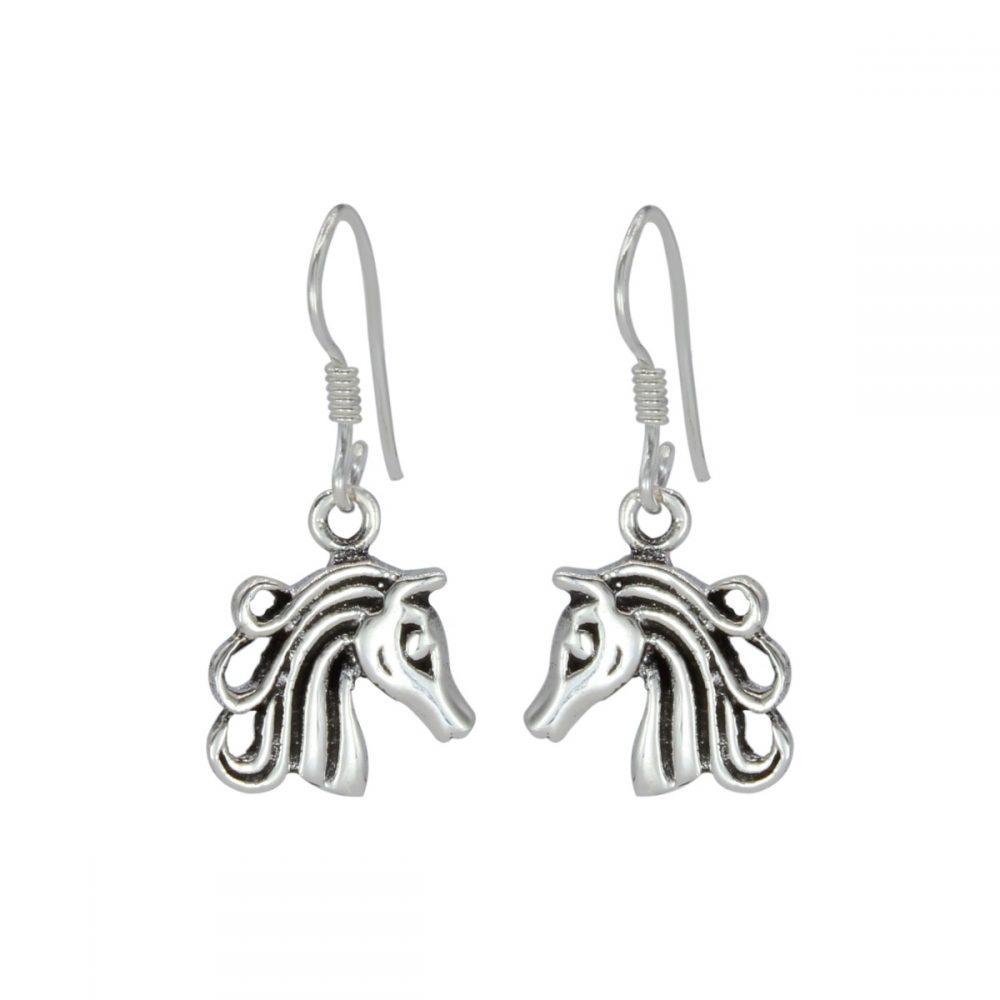 Whole Silver Horse Earrings