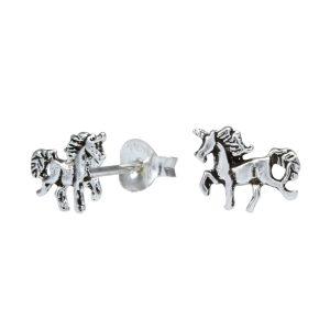 Wholesale Silver Horse Stud Earrings