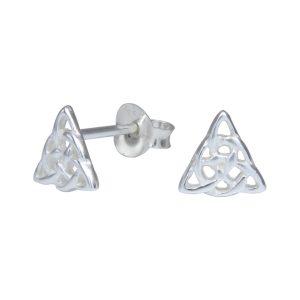 Wholesale Silver Celtic Triangle Stud Earrings