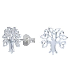 Wholesale Silver Celtic Tree of Life Stud Earrings