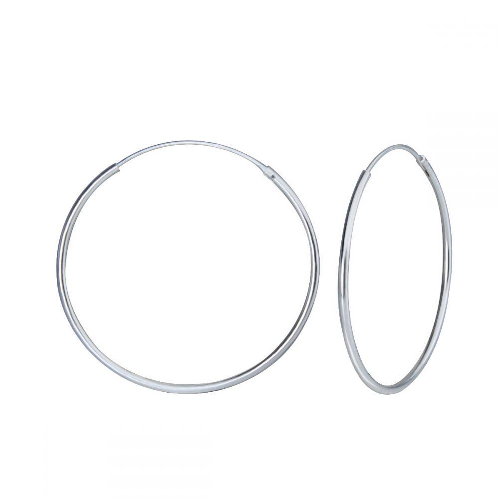 Wholesale 35mm Silver Hoop Earrings