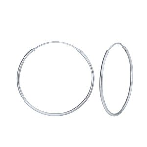 Wholesale 35mm Silver Hoop Earrings