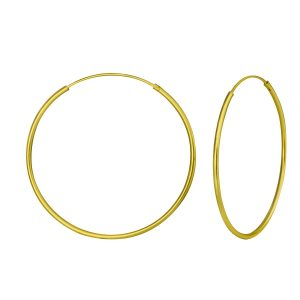 Wholesale 40mm Silver Hoop Earrings