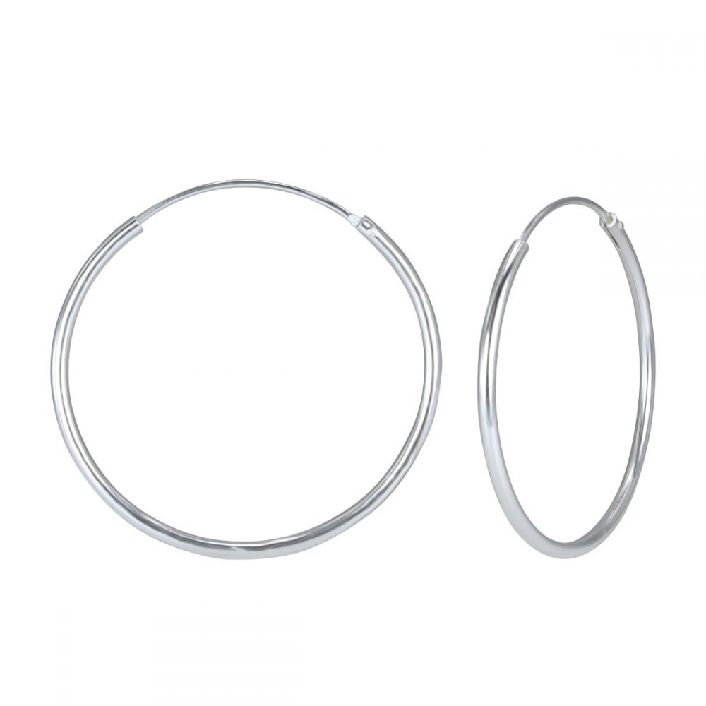 Wholesale 45mm Silver Hoop Earrings