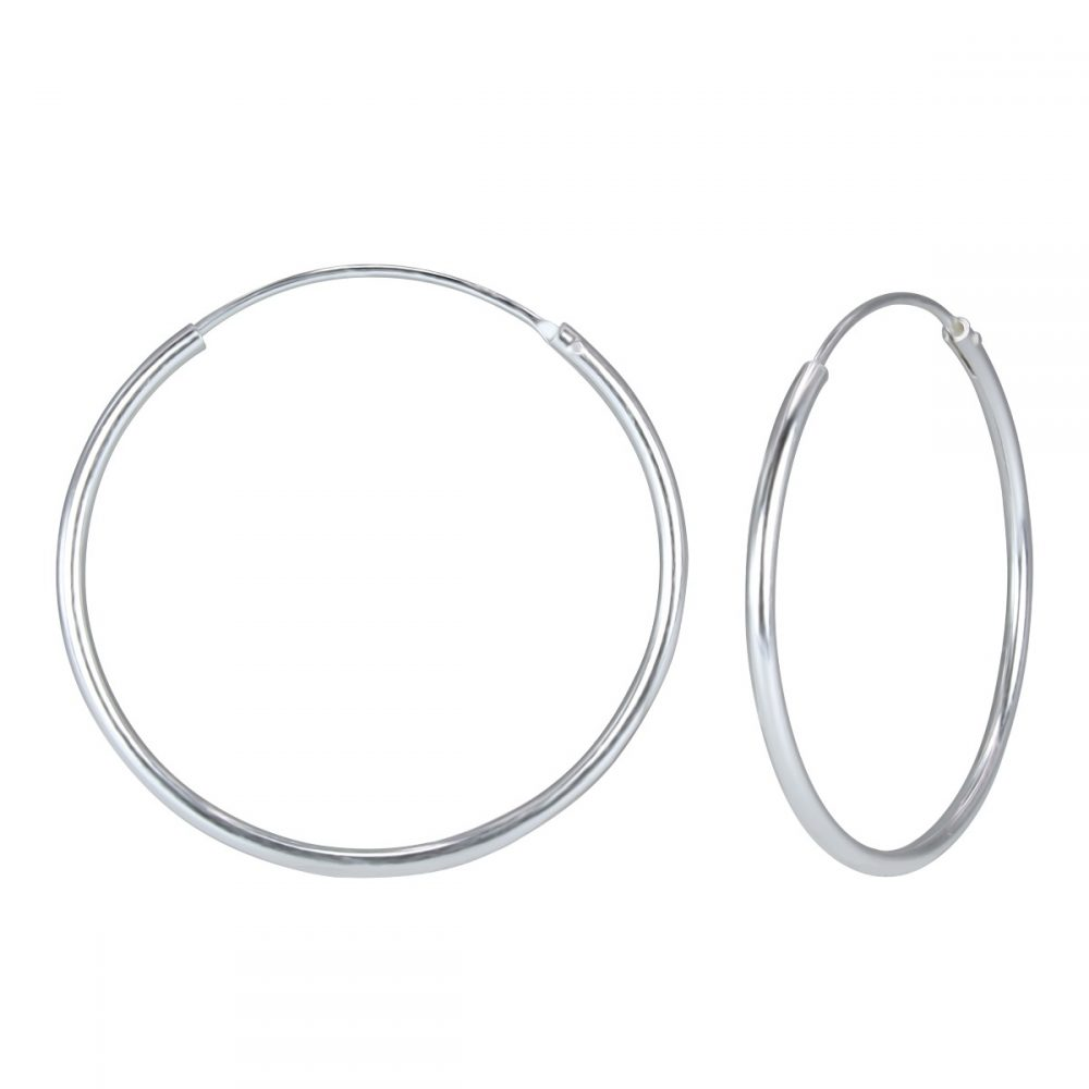 cost charm huge inventory new arrive 50mm Silver Hoop Earrings