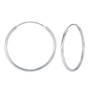 Wholesale 50mm Silver Hoop Earrings
