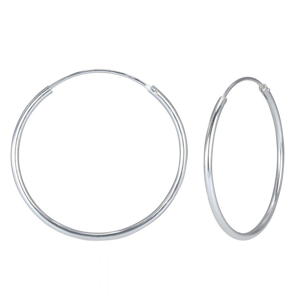 Wholesale 55mm Silver Hoop Earrings